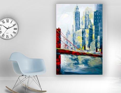 tableau contemporain Brooklyn Bridge