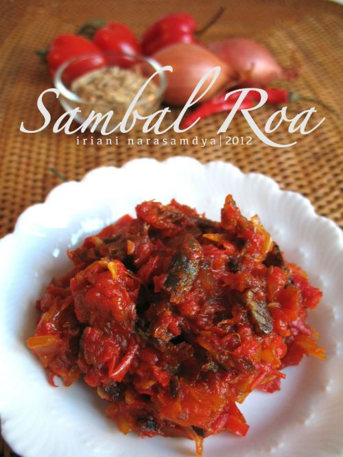 Sambal Roa (Indonesian Food) #Indonesian recipes #Indonesian cuisine #Asian recipes  http://indostyles.com