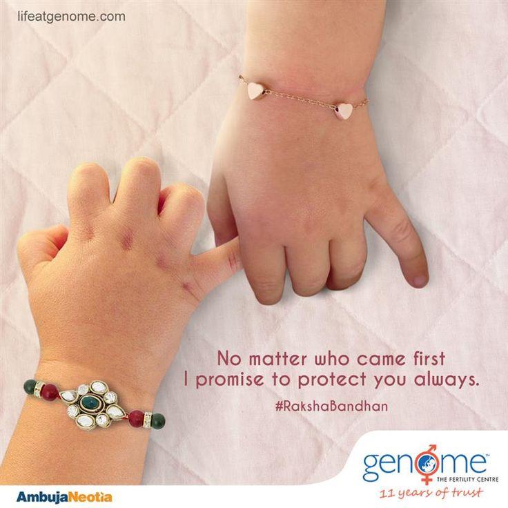 Celebrating the inseparable bond of love, trust & care. GENOME wishes you Happy Raksha Bandhan