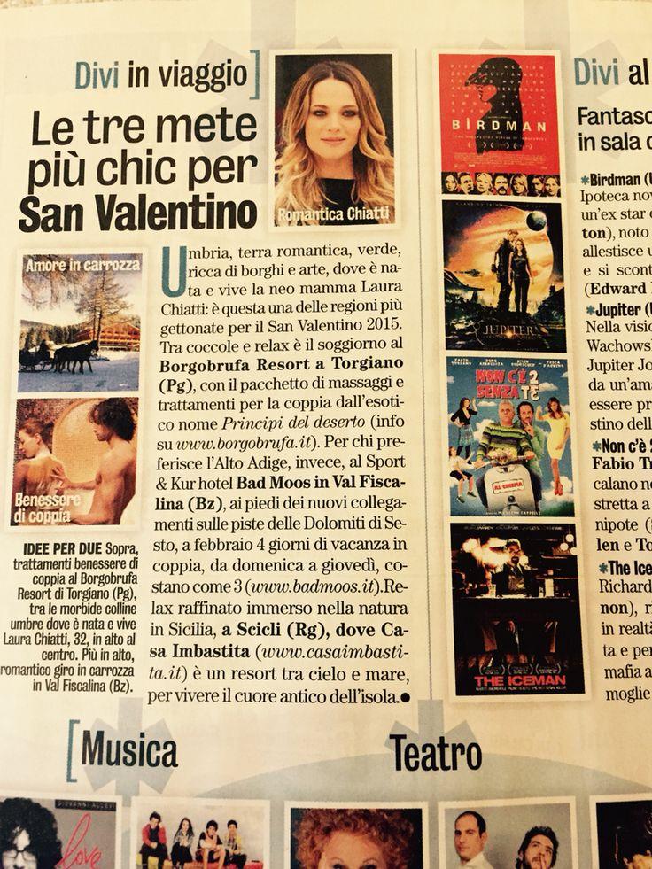 I suggerimenti di Diva e Donna in edicola questa settimana. Le tre mete più chic per San Valentino. Noi ci siamo. www.casaimbastita.it