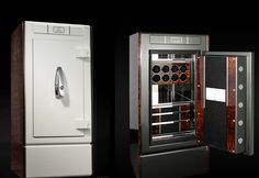 BENTLEY WATCH SAFE BY STOCKINGER | This extravagant safe combines style and technical vision. With its leather linings, brushed aluminum interior finish and seven layer lacquer, it is indeed a unique and bespoke masterpiece | See more at: www.bocadolobo.com #luxurysafes #mostexpensivesafes