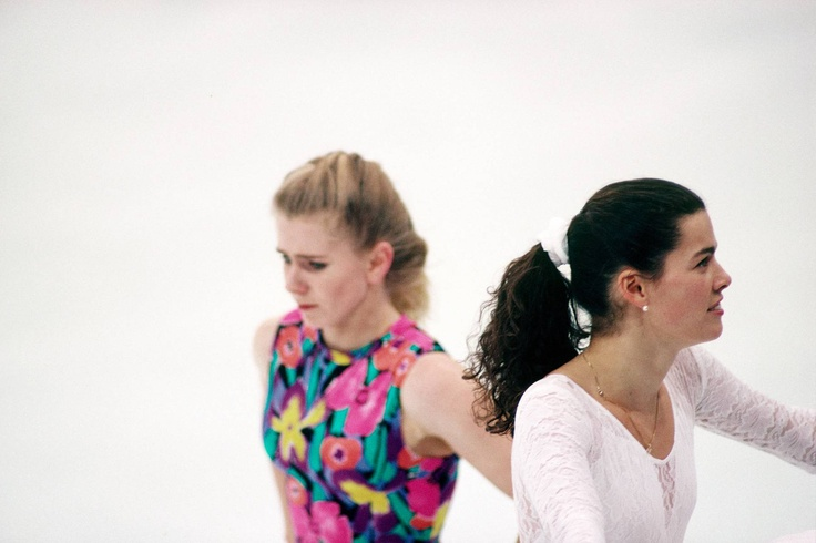 Tonya Harding and Nancy Kerrigan training during the Winter Olympics, 1994.