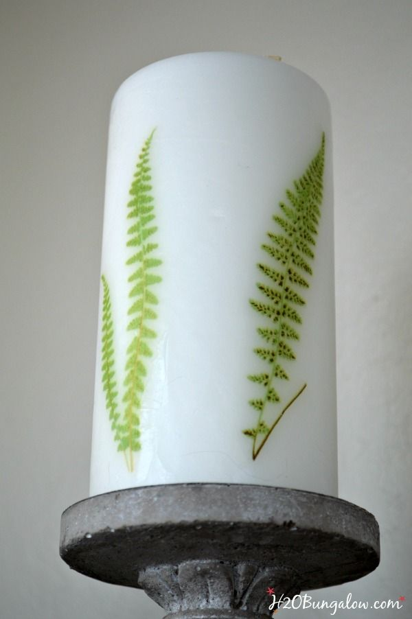 How To Add Fern Images On Candles