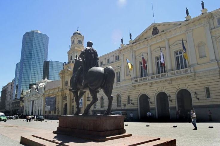 Santiago of Chile Downtown.