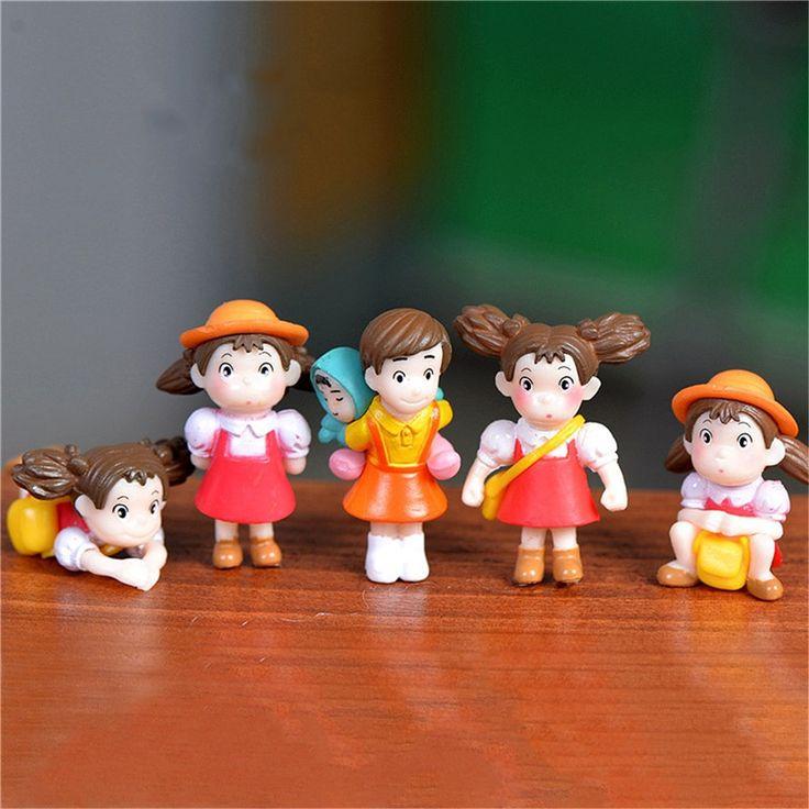 5pcs/lot Totoro Action Figure Hayao Miyazaki XIAOMEI Film Miniature Figurines PVC Japanese Cute Anime Kids Christmas Gift-in Figurines & Miniatures from Home & Garden on Aliexpress.com | Alibaba Group