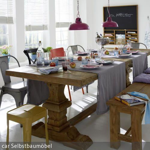 die besten 25 rustikaler esstisch ideen auf pinterest rustikale tische holzesstische und. Black Bedroom Furniture Sets. Home Design Ideas