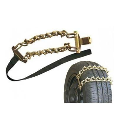 Round Twisted Steel 5mm Diameter Car Tire Snow Chain For Truck