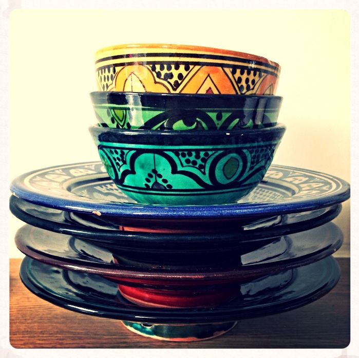 Beautiful Morrocan pottery from our Collection Colors of The World