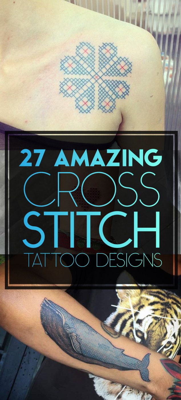 Cross Stitch Tattoo Designs | TattooBlend