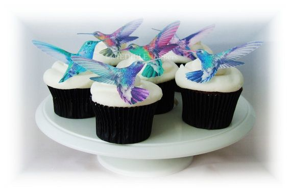 Hey, I found this really awesome Etsy listing at https://www.etsy.com/listing/176477369/edible-cake-toppers-12-hummingbirds
