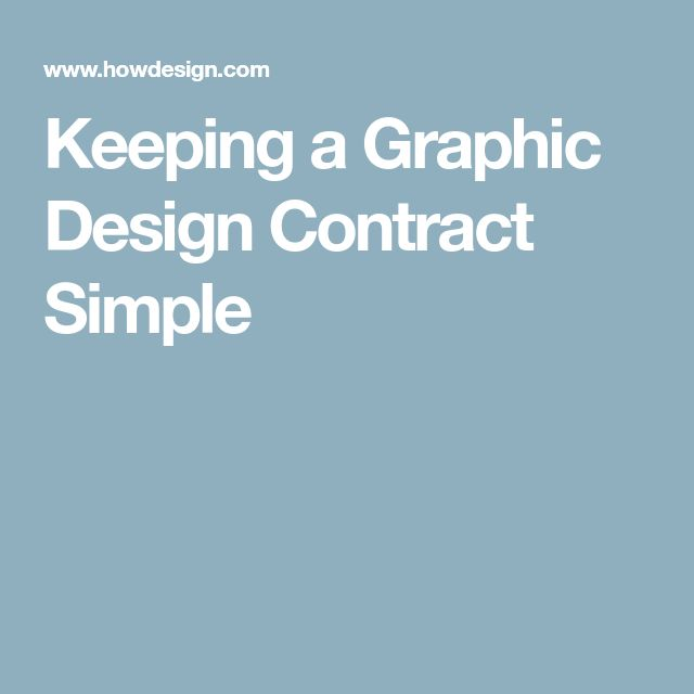 Keeping a Graphic Design Contract Simple