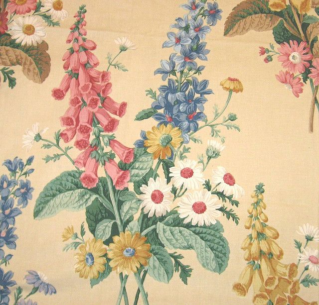 Vintage floral fabric ~ Sanderson by Vintage LOVE, via Flickr