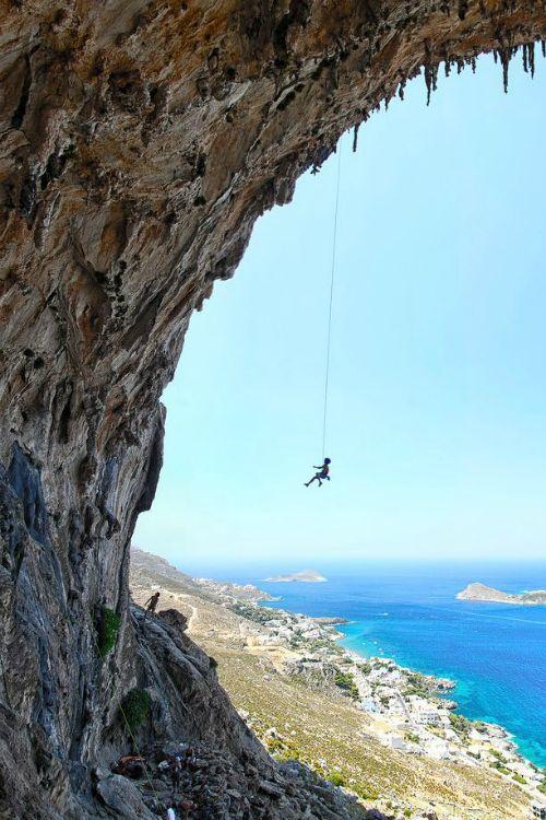 Spiderman - Kalymnos, Greece