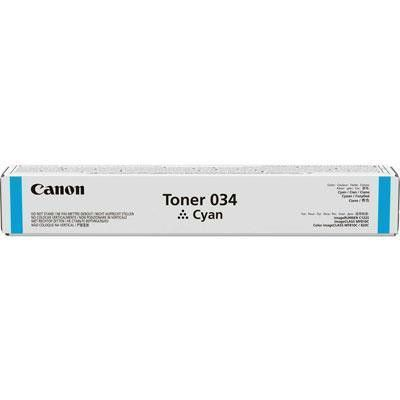 Canon Usa Canon Cartridge 034 Cyan Toner - For Imageclass Mf820cdn And Mf810cdn - Full Yie