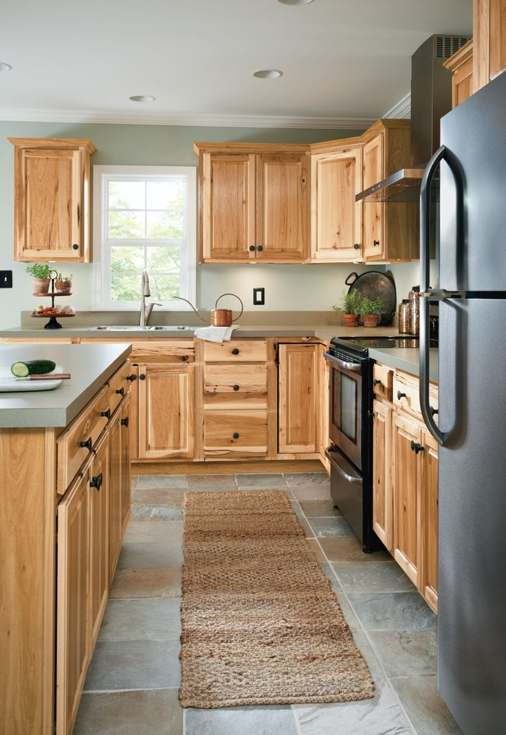 #Kitchen #cabinetry #ideas and #inspiration at #value #prices! Be inspired by these kitchen #cabinet #designs as you plan for your #home #remodel & #renovation.  #Rustic #Hickory #Kitchen