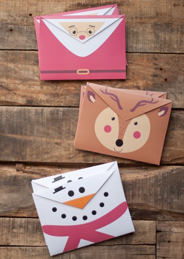 Printable Holiday Crafts: Christmas Envelopes by This Heart of Mine