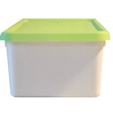 """12 Piece - Accessory Box - Bright Green        DETAILS  12 Piece - Accessory Box - Bright Green    Designed for dolls, cars, crafts and more  4.75 quart/ 4.5 litre capacity  Snap-on lid ensures contents are kept securely in place  Stackable design to maximize storage space  Durable resin construction  Dimensions: 7"""" wide x 4.25"""" high x 13"""" deep Weight is 10 lbs for 12 pieces"""