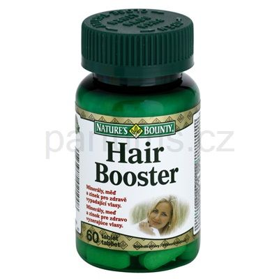 Nature's Bounty Hair Booster doplněk stravy pro zdravé a krásné vlasy   parfums.cz