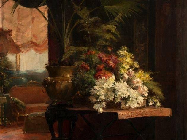 Munkácsy Mihály (1844-1900) - Krizantémos virágcsendélet