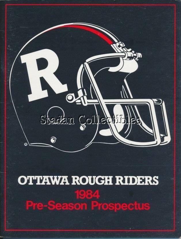 1984 ottawa rough riders prospectus  rare vintage cfl #Football memorabilia from $6.36