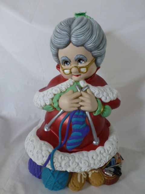 Ceramic Mrs Santa Claus Decor by MariaECollection on Etsy,