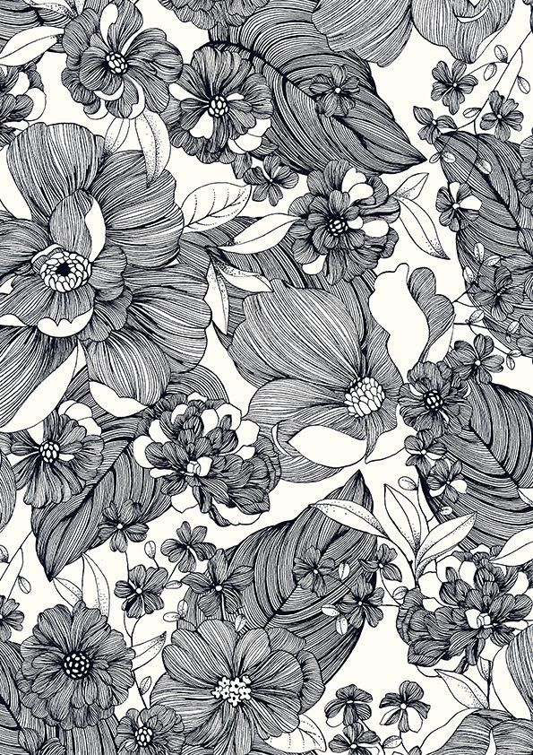 Des fleurs et des murs