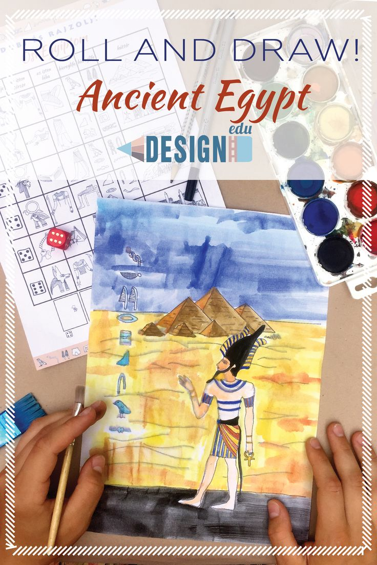 Roll and Draw! Ancient Egypt with video for distance