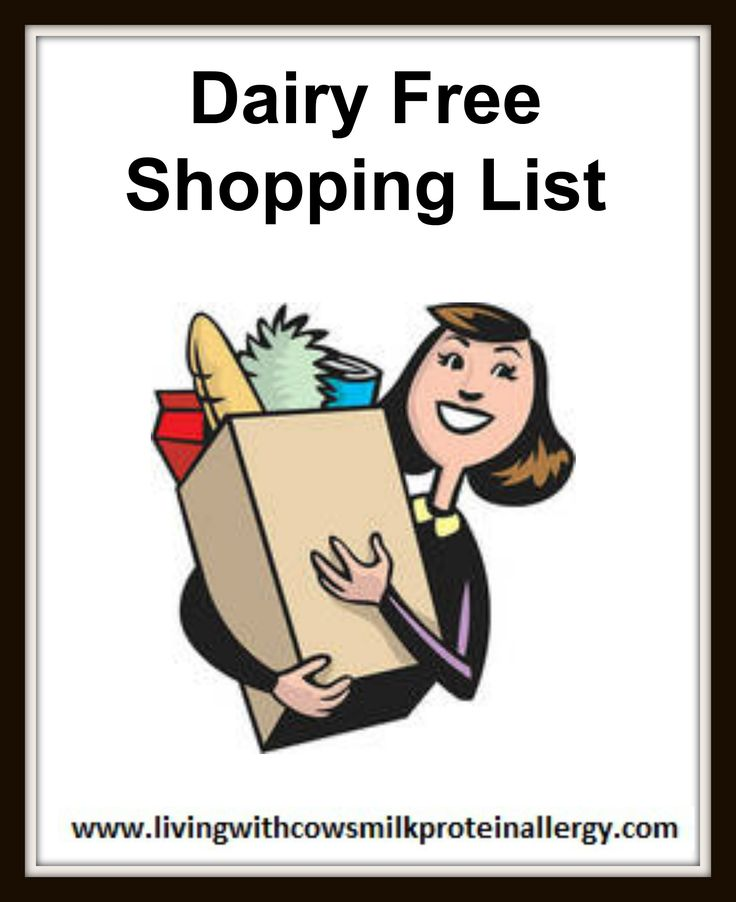 Dairy Free Shopping List - Soya Free - Living With CMPA