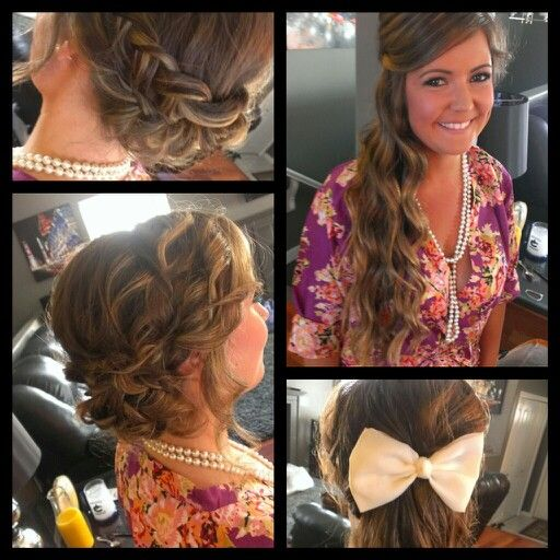 The lovely bridesmaids! -updo