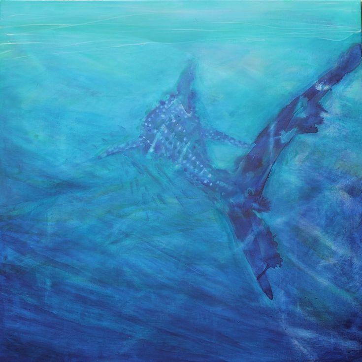 whale shark painting by Olivia Samec  Western Australia