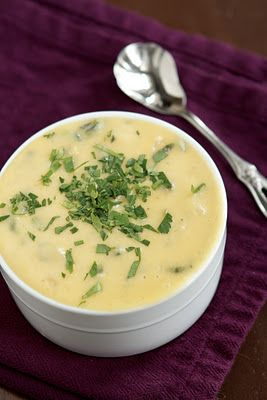 poblano and potato soup....Huvar's potato poblano soup has me hooked...hope this recipe is the same!