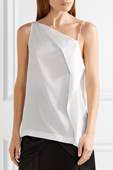 Dion Lee   Axis one-shoulder silk camisole   NET-A-PORTER.COM