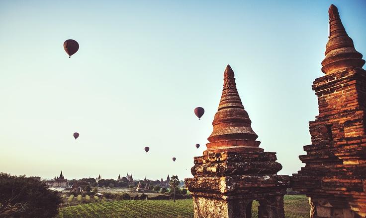 bagan - burma - baloons