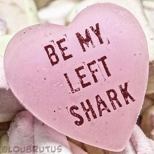 Thanks to @yahooPOP for selecting my BE MY LEFT SHARK meme as best in the #RejectedCandyHearts thread. #Yahoo @Yahoo