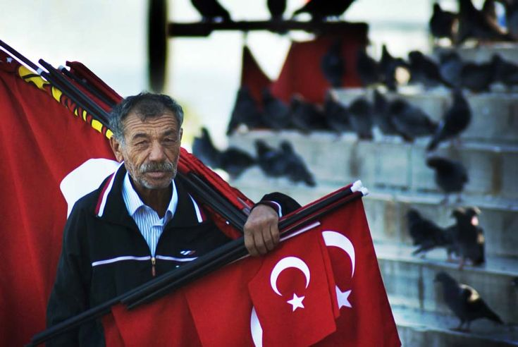 Travel Photo of the Day: Flag Man in Istanbul Turkey #turkey #travel