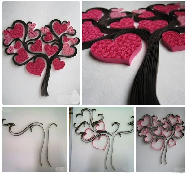 Quilling Heart Tree