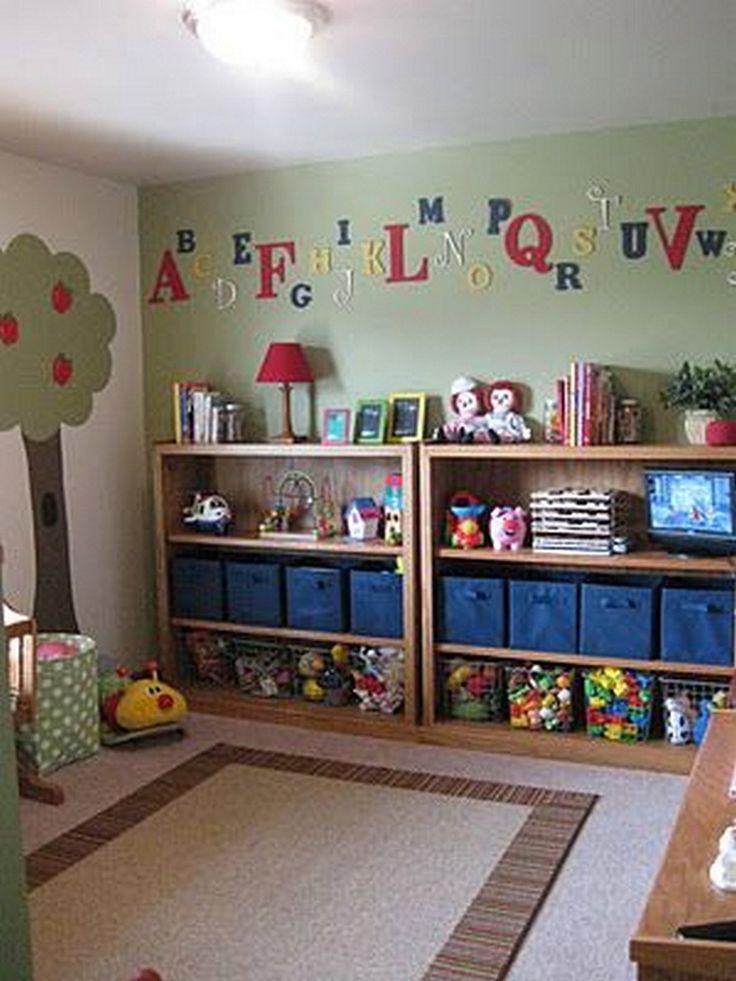 The 25 best toy storage ideas on pinterest kids storage for Creative toy storage ideas for living room