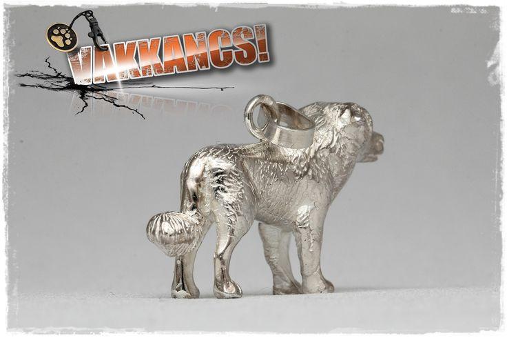 Kuvasz mini-sculpture sterling silver pendant. http://www.vakkancs.eu/vakkancs_dogs/kuvasz