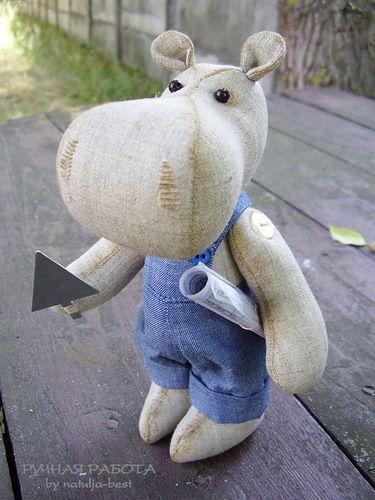 Ручная работа by natulja-best: Бегемот  Hippo