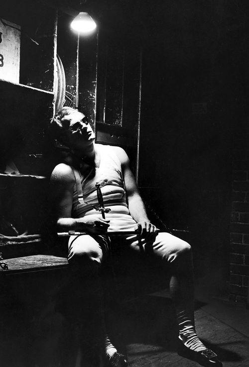 Marlon Brando, presumably on the set of Désirée.