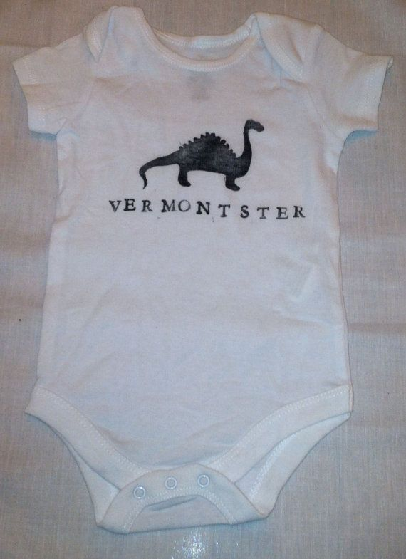 Vermont, Lake Champlain, Champ Onesie on Etsy, $25.00. Hey mom... haha thought you'd think this was funny!