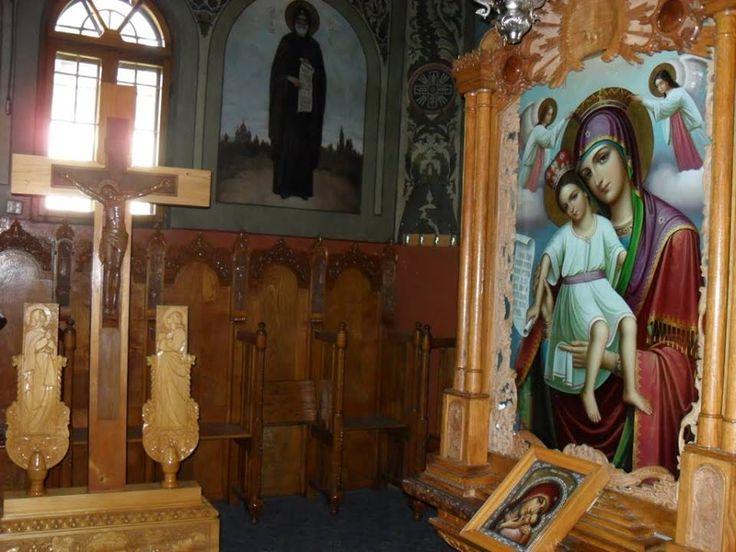 Icoana Maicii Domnului Făcătoare de minuni din Mănăstirea Sihăstria - Neamț (Axionița)