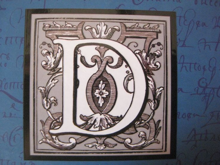 Needlecraft: Monograms for Painting and Embroidery - The Letter D
