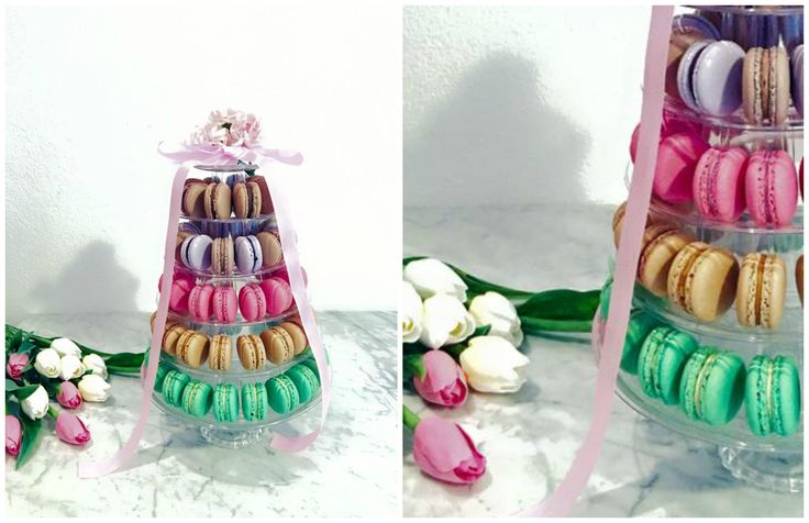 Macaron birthday tower
