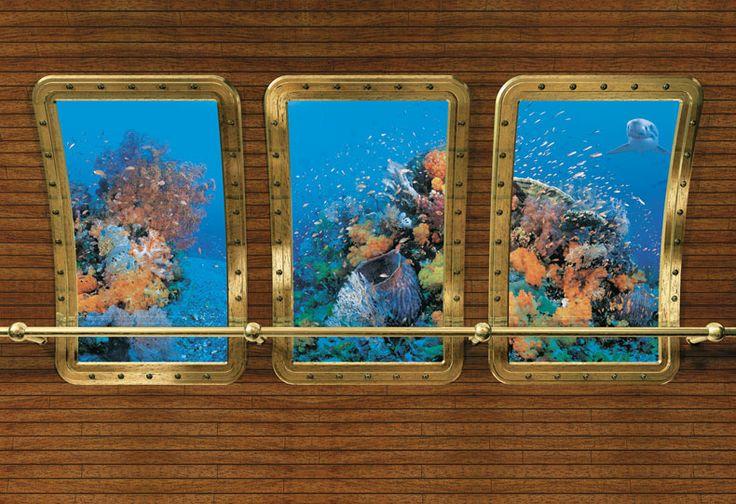 63 best mural ideas church images on pinterest for Aquarium mural wallpaper