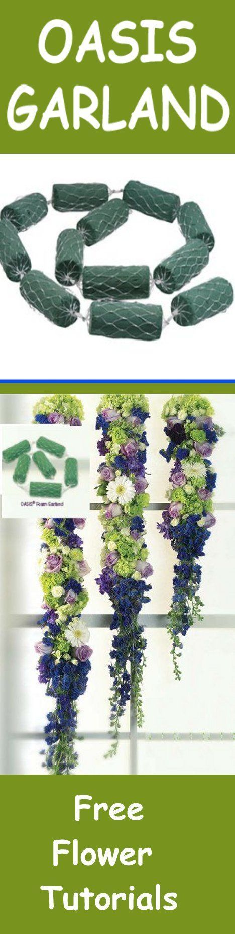 Floral Foam - Florist Supply for Weddings - Hanging Garland  Learn how to make bridal bouquets, wedding corsages, grooms boutonnieres, church and reception decorations and more.  Buy wholesale fresh flowers and discount florist supplies.: