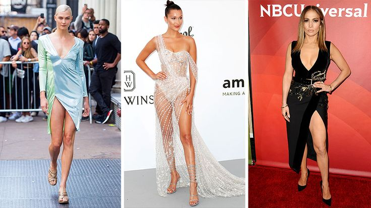 """From left: Karlie Kloss, Bella Hadid and Jennifer Lopez serve as inspiration for """"thighlighting"""" procedures."""