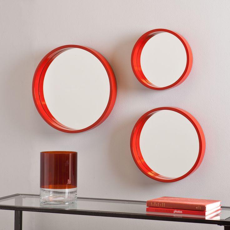 Red Wall Mirror best 20+ orange wall mirrors ideas on pinterest | orange bathroom