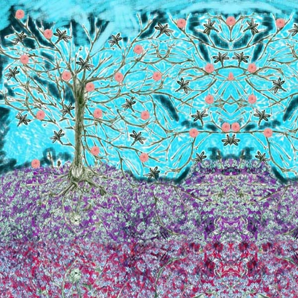 spring in Turquoise print