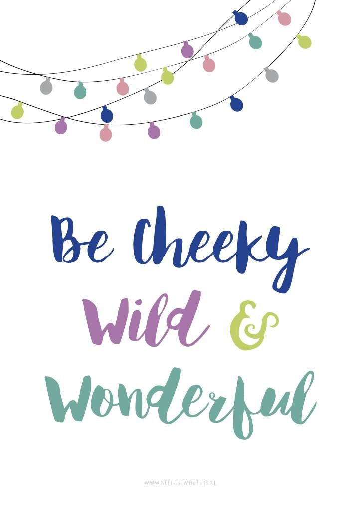Free printable Poster met Pippi Langkous Quote | by Nelleke Wouters